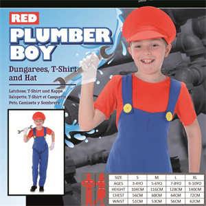 SMALL KIDS RED PLUMBER