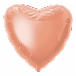 ROSE GOLD HEART FOIL BALLOON 45cm